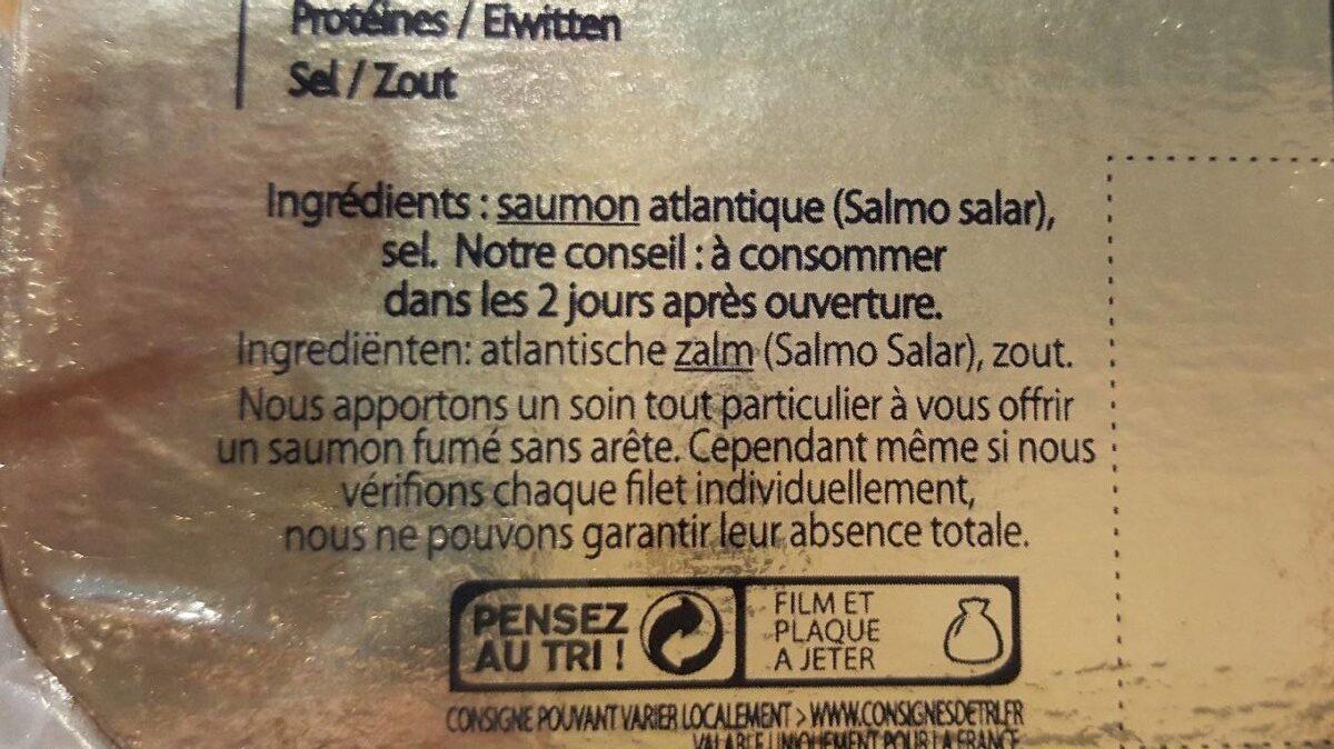 Saumon fumé d'ecosse - Ingrédients - fr