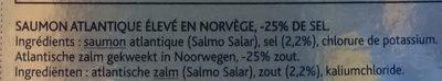 Le Norvège -25% sel - Ingredients - fr