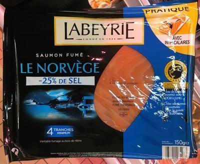 Saumon fumé Le Norvège (-25% de sel) - Produit