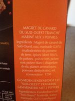 Magret de Canard Tranché du Sud-Ouest Mariné aux Trois Poivres - Produit