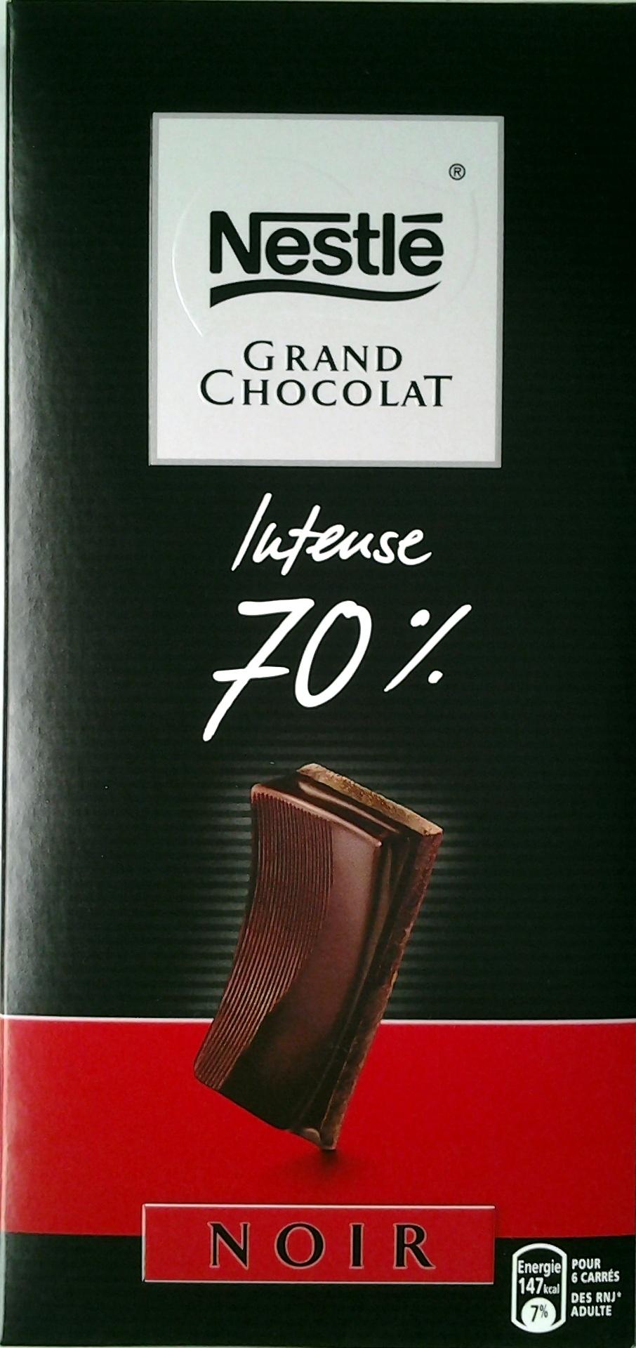 grand chocolat noir intense 70 nestl 100g. Black Bedroom Furniture Sets. Home Design Ideas