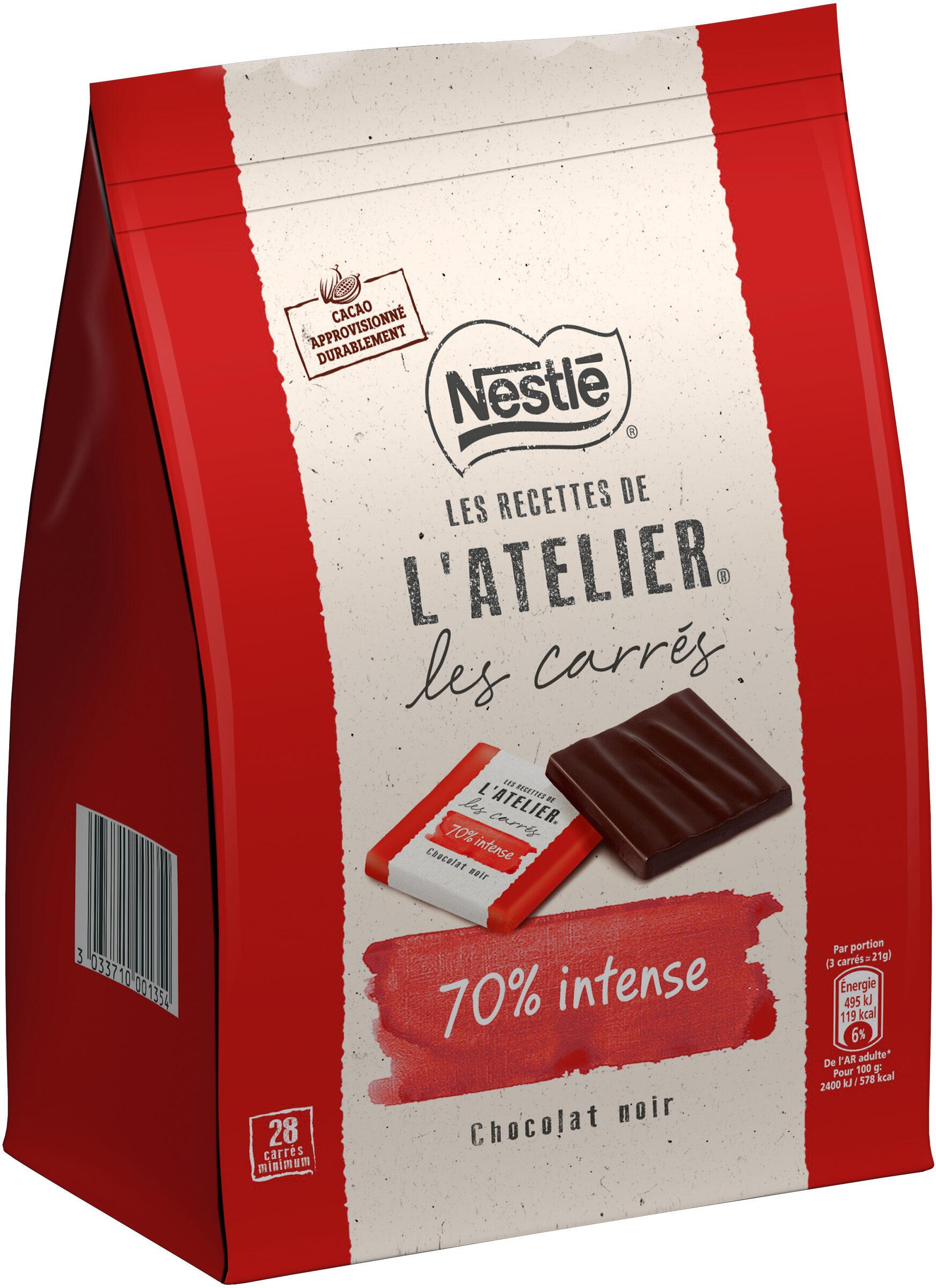 NESTLE L'ATELIER Carrés Dégustation Noir Intense 70% - Product - fr