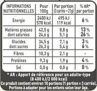 NESTLE L'ATELIER Carrés Dégustation Noir Intense 70% - Valori nutrizionali - fr