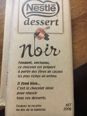 Chocolat Noir Pâtissier Dessert Nestlé - Product - fr