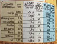 Céréales et chicorée solubles CARO, Boîte de - Informazioni nutrizionali - fr