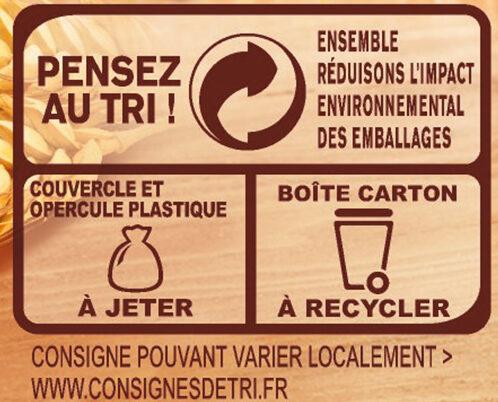 Céréales et chicorée solubles CARO, Boîte de - Istruzioni per il riciclaggio e/o informazioni sull'imballaggio - fr