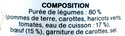jardinière bœuf - Ingredients - fr