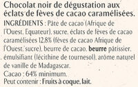NESTLE L'ATELIER Carrés Dégustation Eclat Noir - Ingredients - fr