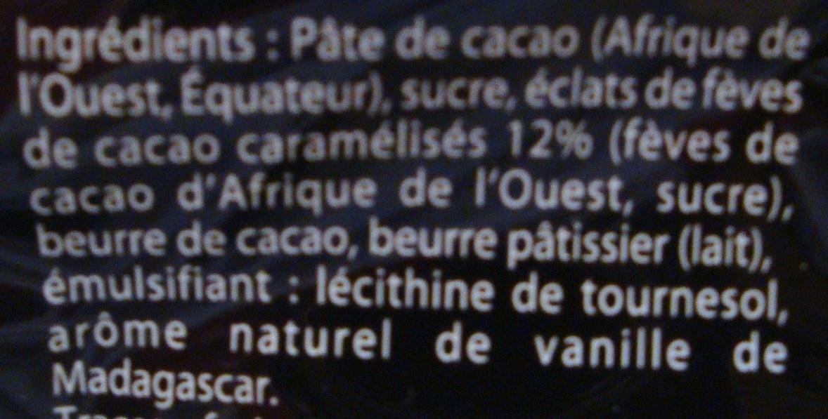 Eclat noir Fèves de cacao - Ingredients - fr