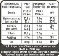 NESTLE L'ATELIER Carrés Dégustation Eclat Noir - Valori nutrizionali - fr