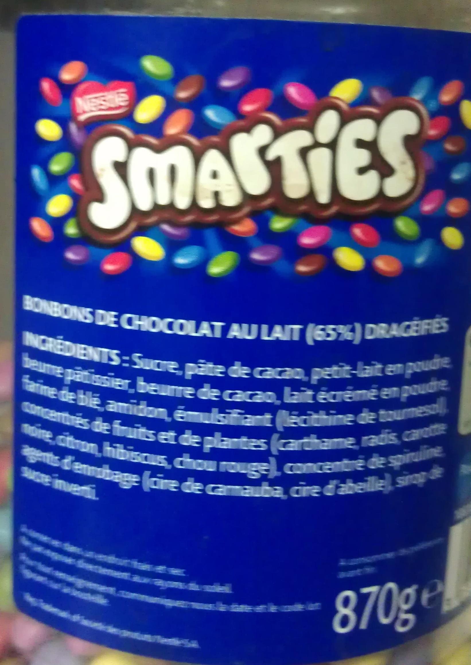 smarties ingredients Smarties Ingredients