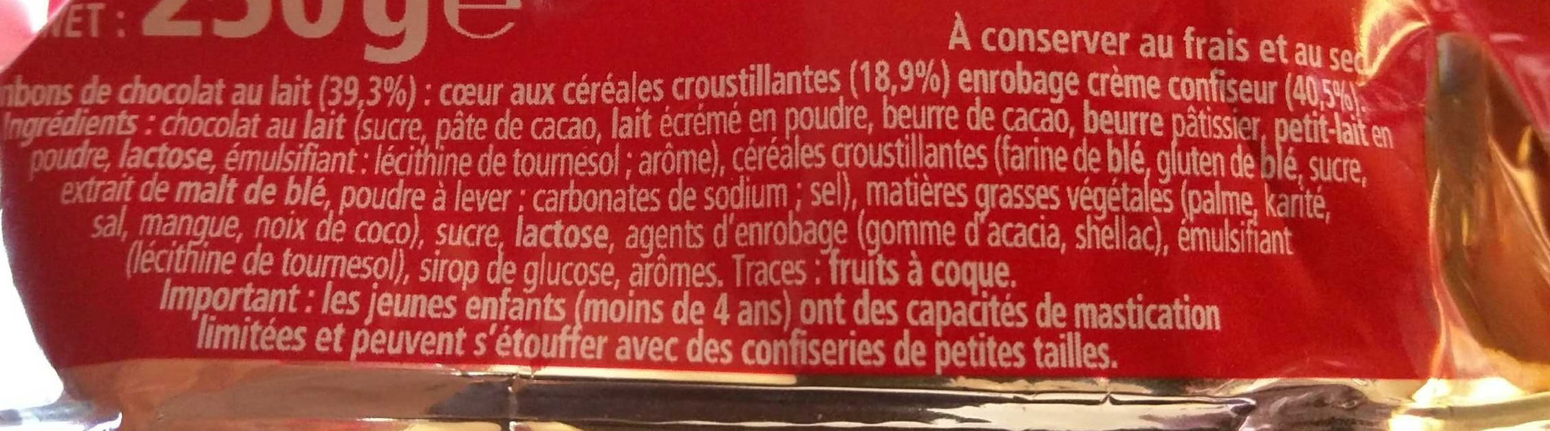 KitKat Ball - Ingrédients - fr