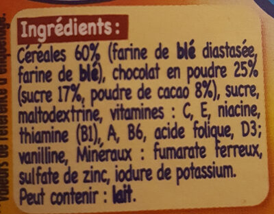 Babicao Chocolat - Ingredients