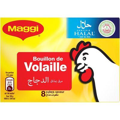 Tablette 8X10G Bouillon Volaille Halal Maggi - Produit - fr