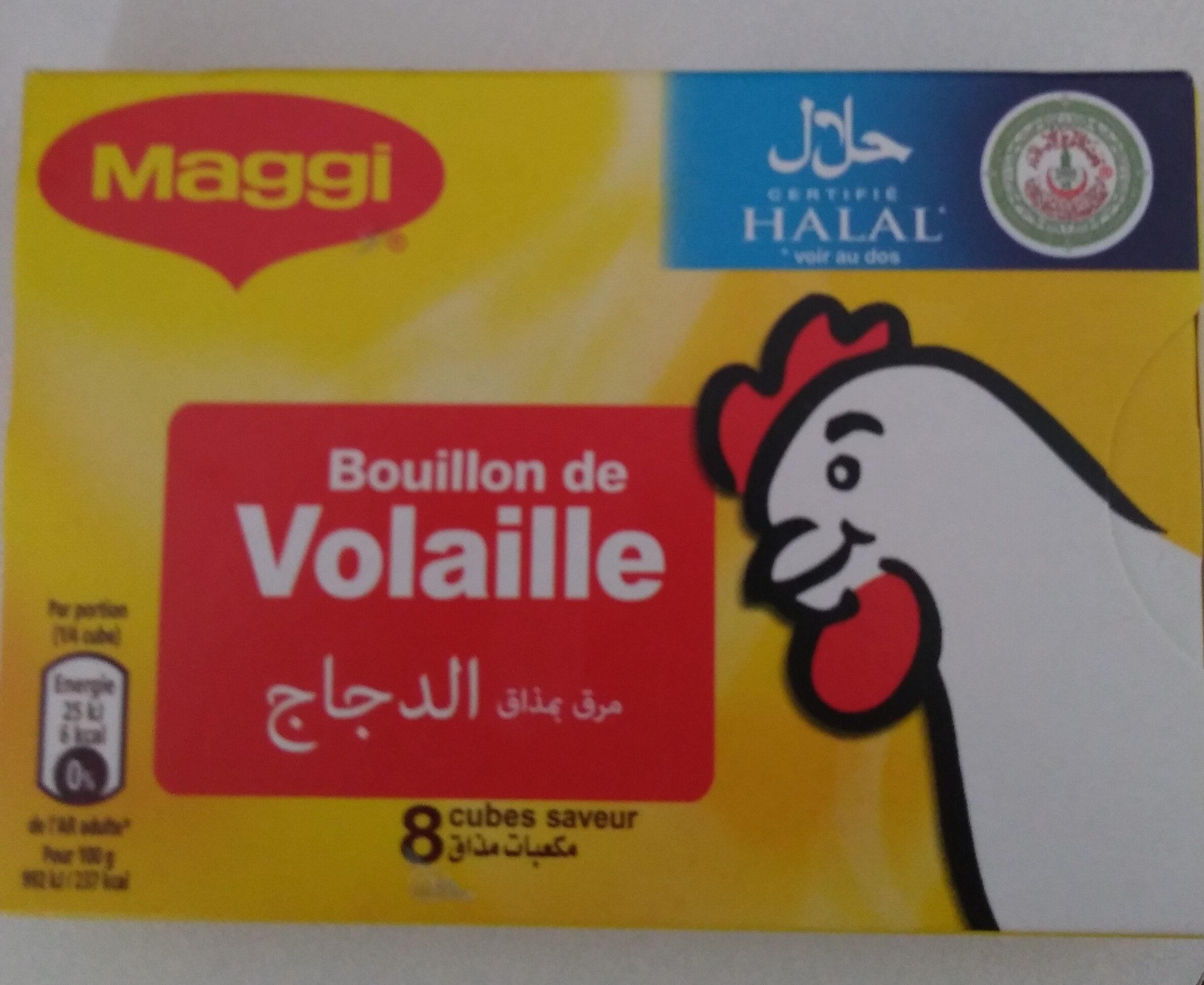 Tablette 8X10G Bouillon Volaille Halal Maggi - Informations nutritionnelles - fr