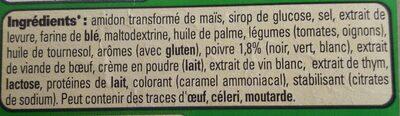 Sauce Aux Poivres - Ingredients