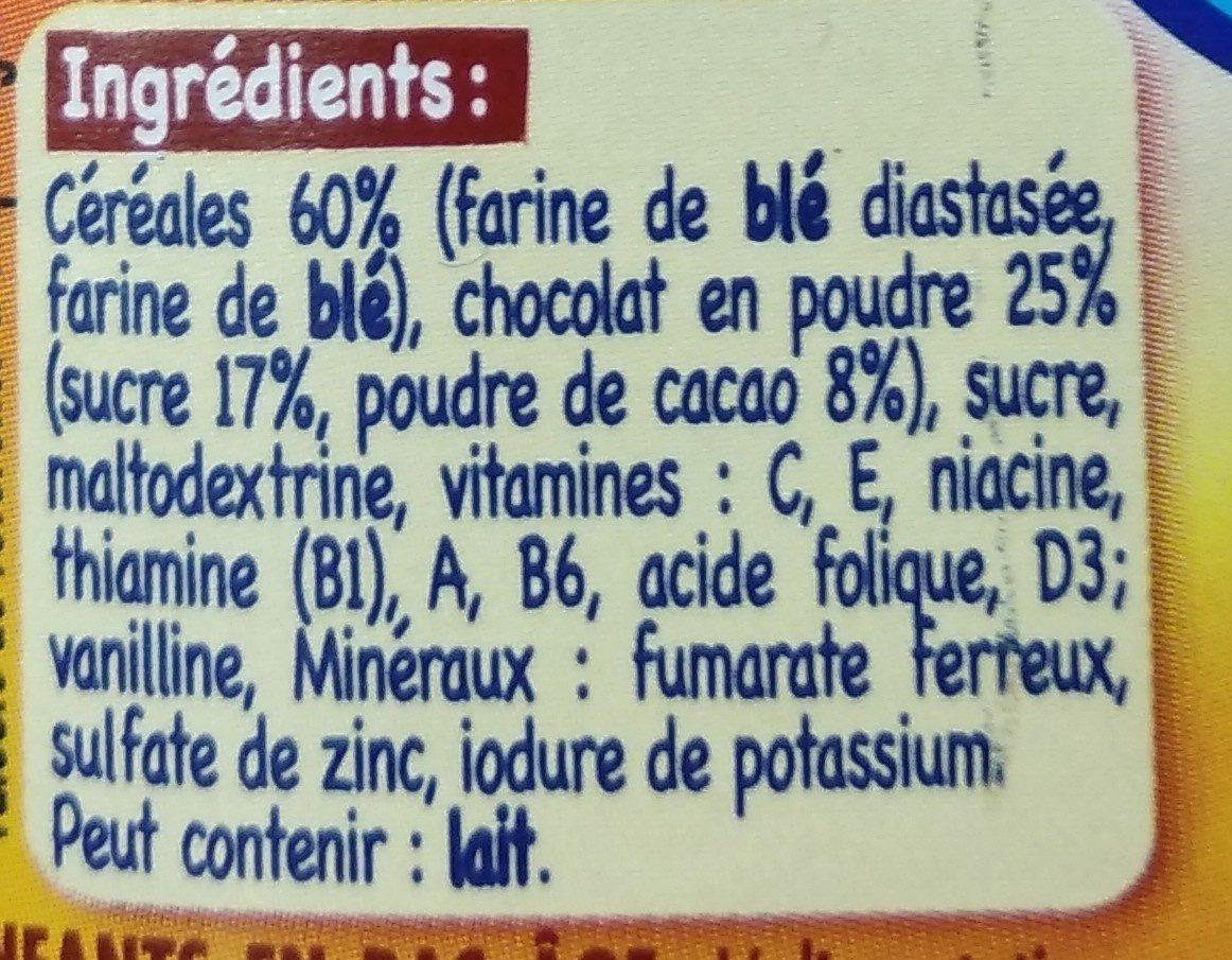 Babicao chocolat - Ingredients - fr