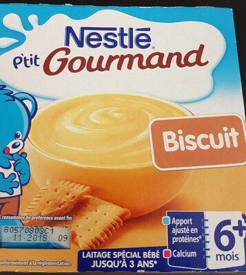 Dessert lacté goût biscuit - Producto - fr