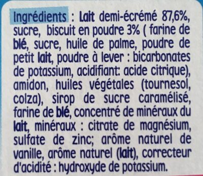Dessert lacté goût biscuit - Ingredientes - fr