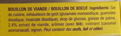 BOUILLON Boeuf pauvre en graisses - Ingrediënten - fr
