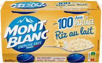 MONT BLANC Dessert Céréales Riz au lait 4x125g - Prodotto - fr