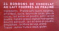 L'escargot lait - Ingrédients - fr
