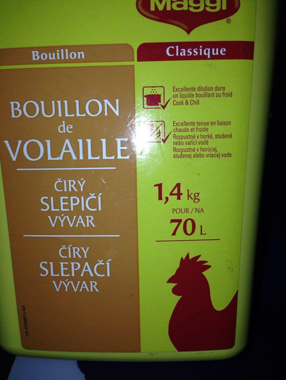 1,4KG Bouillon Volaille 70L Maggi - Produit