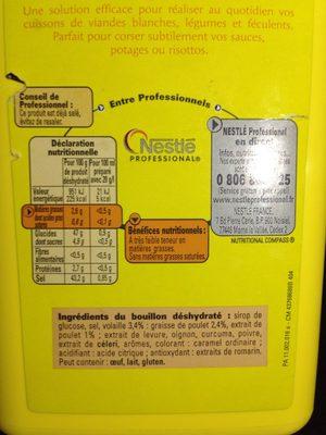 1,4KG Bouillon Volaille 70L Maggi - Informations nutritionnelles