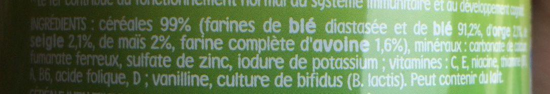 P'tite Céréale 5 Céréales - Ingrediënten