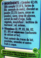 Nestlé - Chocapic - Ingredients - fr