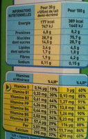 Nestlé - Chocapic - Nutrition facts - fr