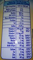 P'tite Céréales vanille - Nutrition facts - fr
