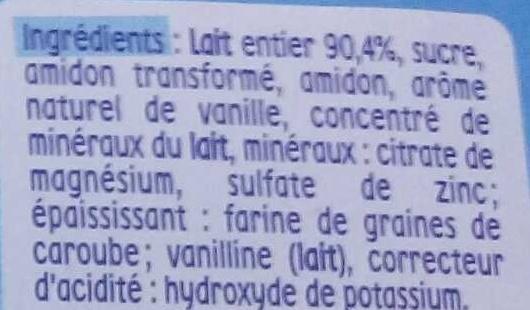 P'tit Gourmand saveur Vanille - Ingredienti - fr