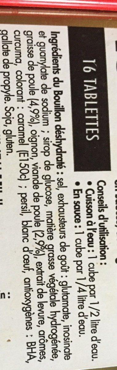 Bouillon De Volaille, 16 Tablettes - Ingrédients - fr