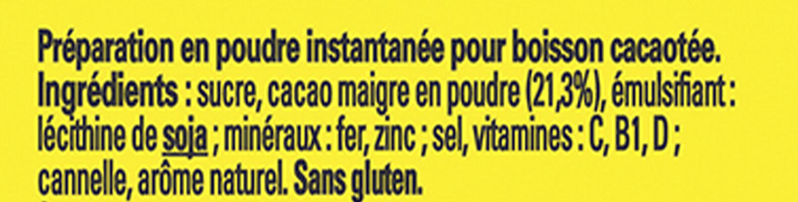 NESQUIK Poudre Cacaotée boîte - Ingrédients - fr