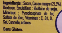 Nesquik - Ingredients