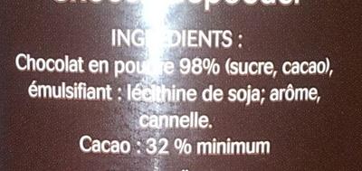 Le Choco - Ingrediënten