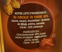 Le Chocolat - Ingredients - fr