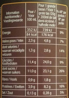 Le Choco - Voedingswaarden
