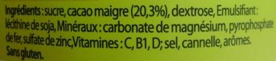 Nesquik® 450 g - Ingredients