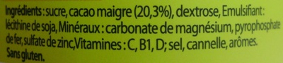 Nesquik® 450 g - Ingrédients