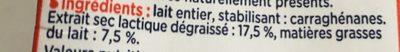 3X20CL BRICK LAIT CONCENTRE ENTIER NON SUCRE 7.5% GLORIA - Ingrediënten