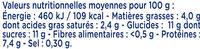 Lait Concentré Non Sucré 1/2 Ecrémé - Nutrition facts - fr