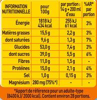 RICORE au Lait - Nutrition facts - fr