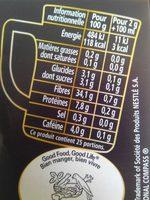 Nescafé NES - Informations nutritionnelles - fr
