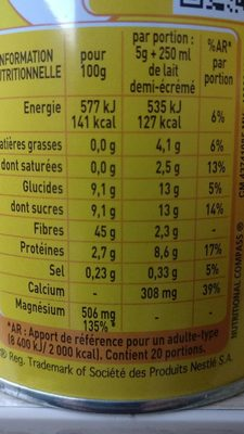 Ricoré - Nutrition facts