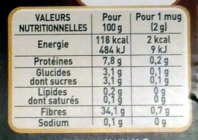 NESCAFE SPECIAL FILTRE L'Original Flacon de - Nutrition facts - fr