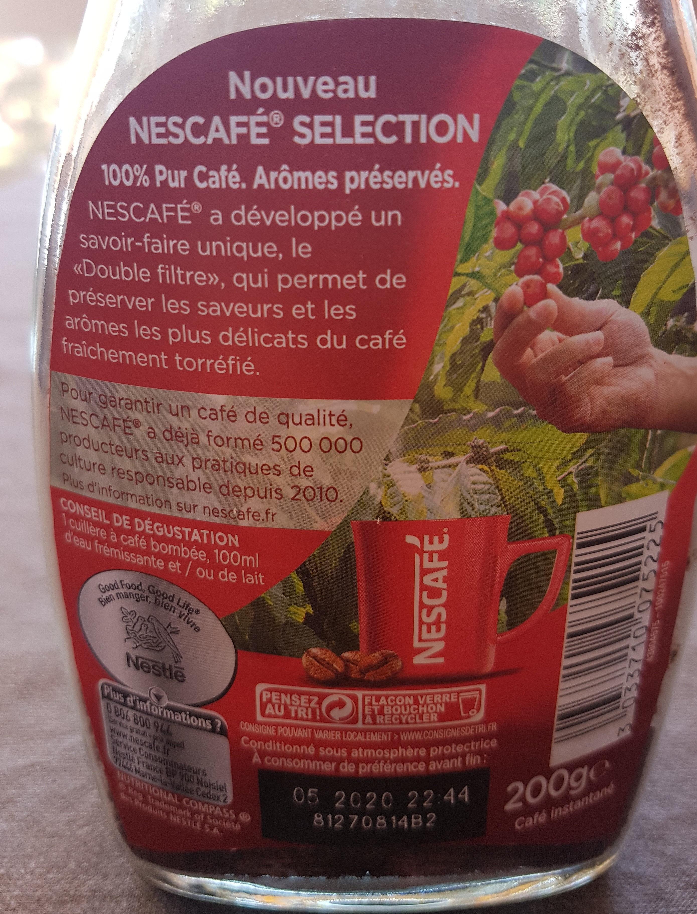 Nescafé Sélection - Información nutricional