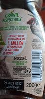 NESCAFE Sélection, Café Soluble, Flacon de - Información nutricional - fr