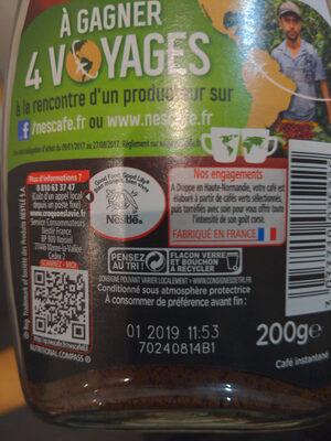 NESCAFE Sélection, Café Soluble, Flacon de - Instrucciones de reciclaje y/o información de embalaje - fr